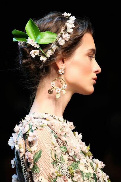 Milan Fashion Week SS 2014 Dolce & Gabbana runway hairstyle  016